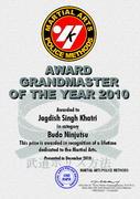 - 1 AWARD MAPM 2010 Jagdish Singh Khatri
