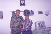 Major. Sanatkumar Basnet with Soke Jagdish at present NEPALPOLICE INSPECTOR GENERAL[I.G.P.]