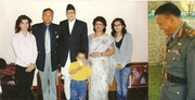 Major Sanatkumar Basnet & Family with Nepal P.M.Koirala