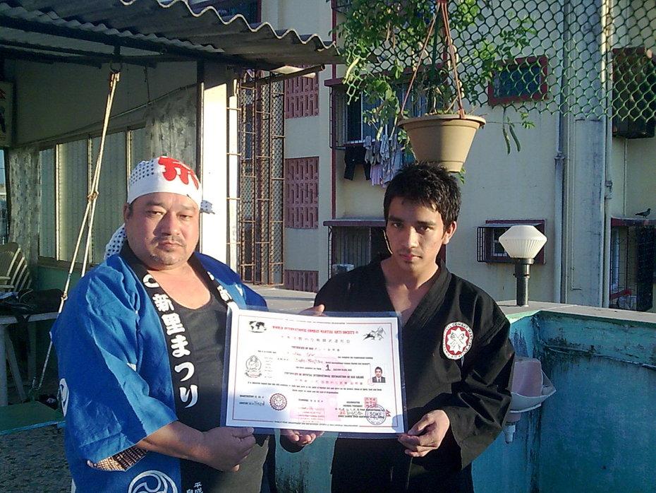 Sho-Dan to Arun Giri of Nepal Khukuri Martial Arts