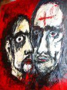 Judas kiss Acryl auf Tuch 160 x 160 cm