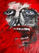Face swims in the Red Sea  Acryl auf Tuch,210 x 170 cm