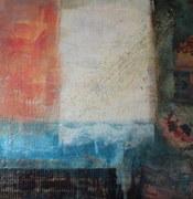 "Verbindung"", Collage, 100 x 100 cm"