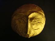 Vergoldete Maske