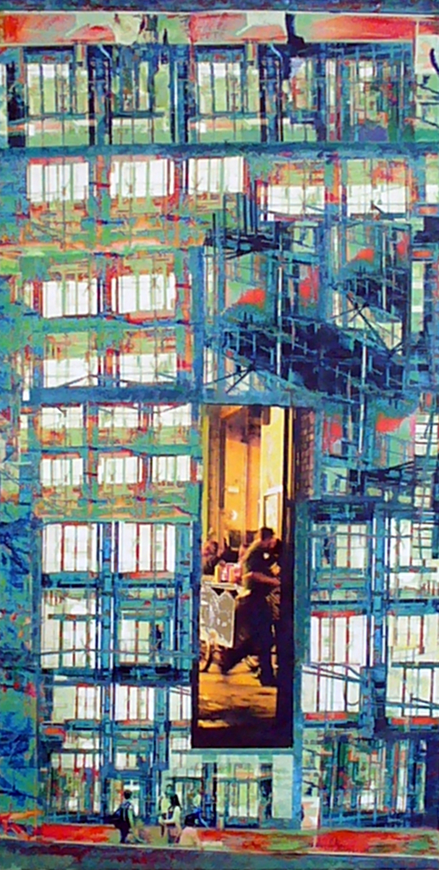 Blick ins .....2, Acryl  Collage, 2015, Christoph Klein