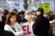Manifestación contra plan de Bolonia