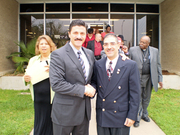 Chief of the Fort Worth, TX Police with Dr. Henry Vazquez