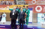 The medals given by former prime minister of korea Han Duck soo & Keyvan Dehnad Iran Yongmudo Prasident.