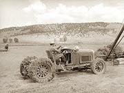 Tractor_made_from_old_Lincoln,_Ouray_Cty__Col_,_1940