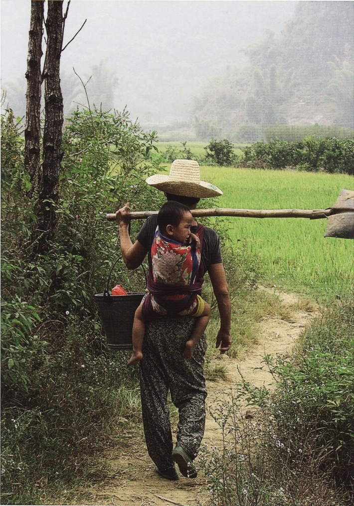 On the way to the work in the fields  (China)