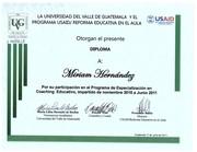 Dra. Miriam Hernández Rivera de Cruz  Diploma Coach UVG