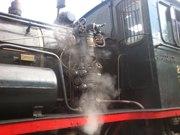 Damplokomotiv 255 klar for avgang