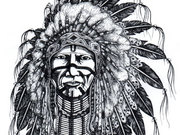 warrior-by Wilbur Antelope Arapahoe High school