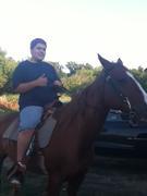 my oldest riding Houdini