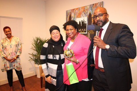 Stacy Abrams Visits IMAN Ga. 2017
