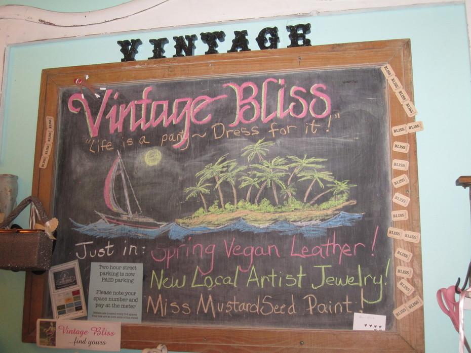 Vintage Bliss's Chalkboard