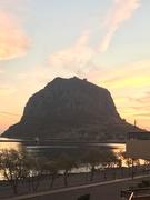 rock at sunset