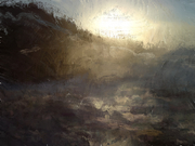 sunset on stormy sea - Cromer