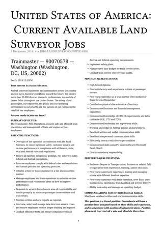 USA Surveying Jobs