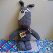 Handmade Sock Dog by Shelley