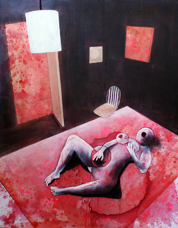 4. With or Without you 2009 Oil on Canvas 122x154cm