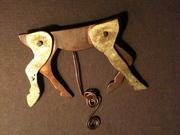 'instinct' kinetic piece in copper & brass