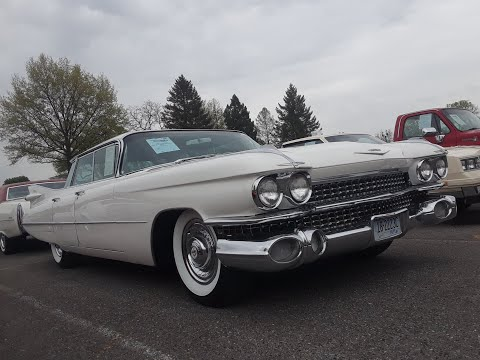 Checking Out Classic Cars With Pam 1959 Cadillac Series 62 Flat Top 2019 Spring Carlisle  Auction