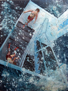 Tom de Freston. Blasted. 2011. Oil on Canvas.  200x150cm