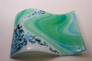 SpringTide Wave Fused glass