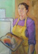 """Paletli Otoportre-Self Portrait with Palette"""
