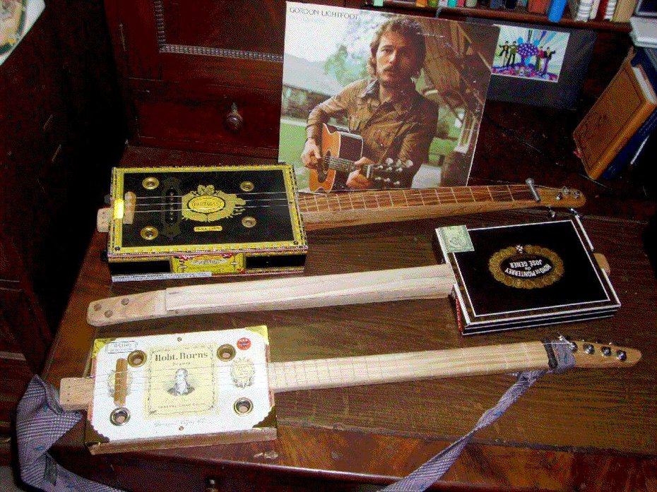 Rich cigar box guitars first three