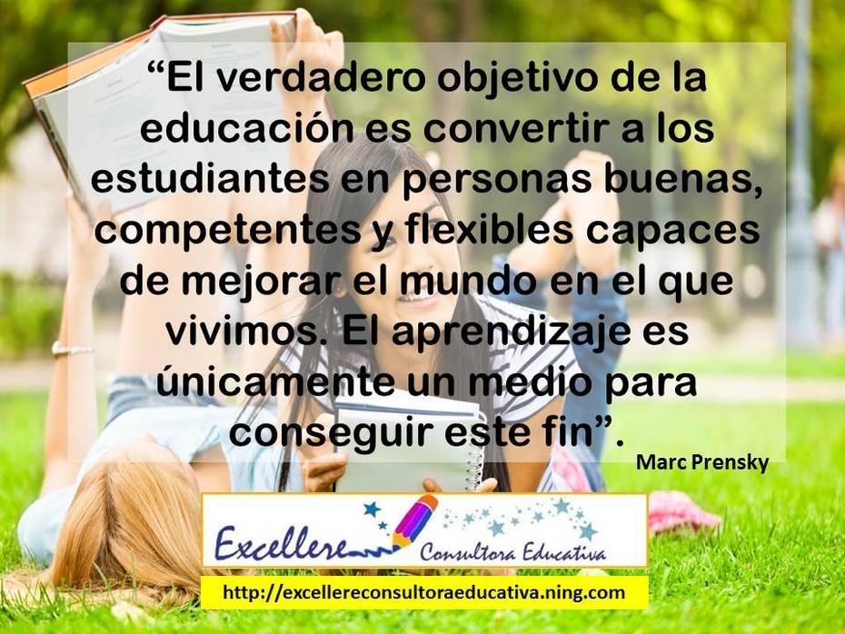 El verdadero objetivo de la educación