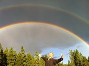 Mt. Shasta double rainbow