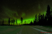 Norrsken den 20 jan, kl. 02:30 - 04:00 i Moskosel på Trollbergsvägen.