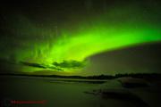 Norrsken den 20 jan, kl. 02:30 - 04:00 i Moskosel.