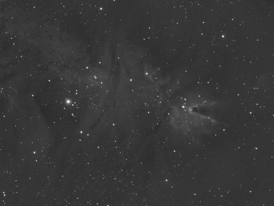 NGC2264_stack 9x5min Ha
