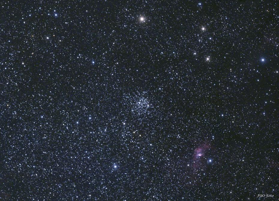 M52 och Bubbelnebulosan