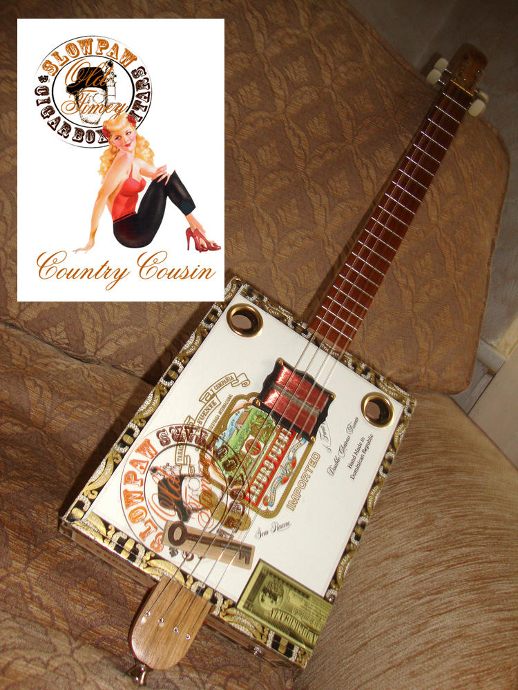 """""""Old Timey"""" 4 string Country Cousin with Flatpup 4"""