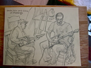 Drawings of musicians and joints