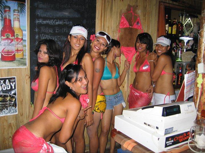 Bikini Night At The Bar.