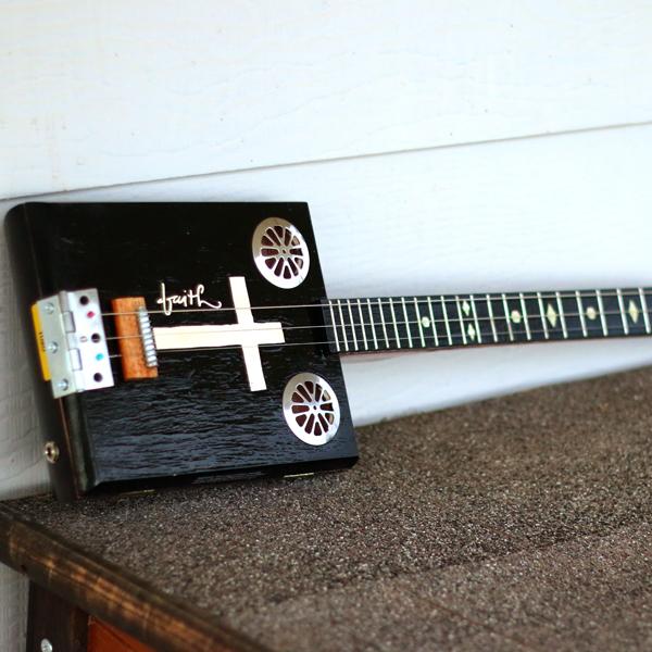 """Cigar box guitar called """"Faith"""""""