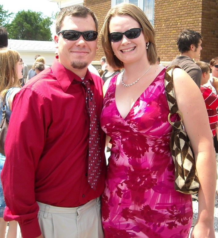 Wife and I at a wedding