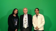 With Richard Dawkins after filming our TV Show: Road to Reason: A Skeptic's Guide to the 21st Century