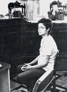 Dilma Roussef durante interrogatório em 1970