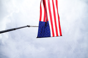 Flag in the air