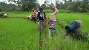 Munjua Integrated women: training with new weeders