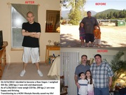 Before and After 236 lb. weight loss.