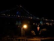 Ben Franklin Bridge at night