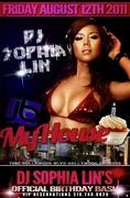 Dj Sophia Lin birthday Friday MyHouse