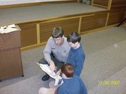 Dave Cook talking with Jr Rangers
